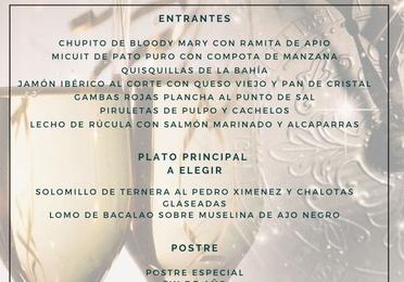 Menú Cena-Baile Noche Vieja 2019