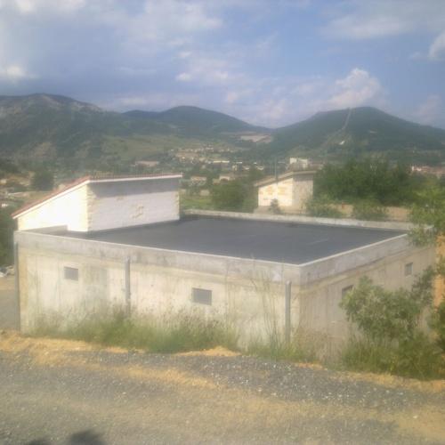 Impermeabilización de cubierta con lámina de Caucho Butilo E.P.D.M.