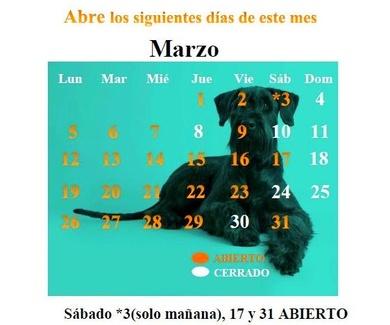 CALENDARIO MARZO 18