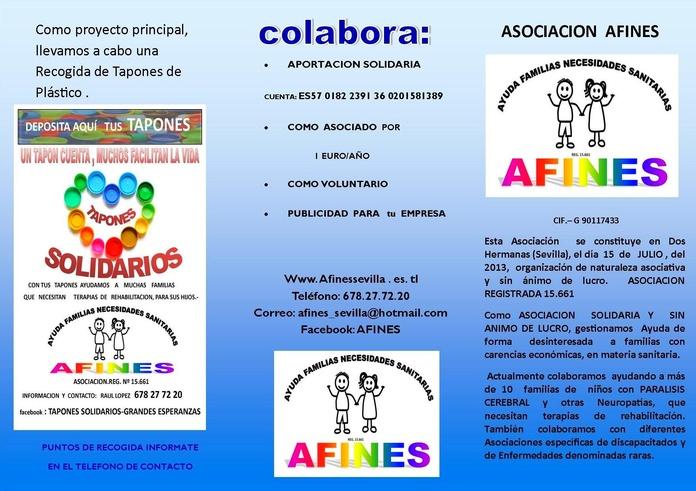 Colaboración con AFINES Asociación sin ánimo de lucro