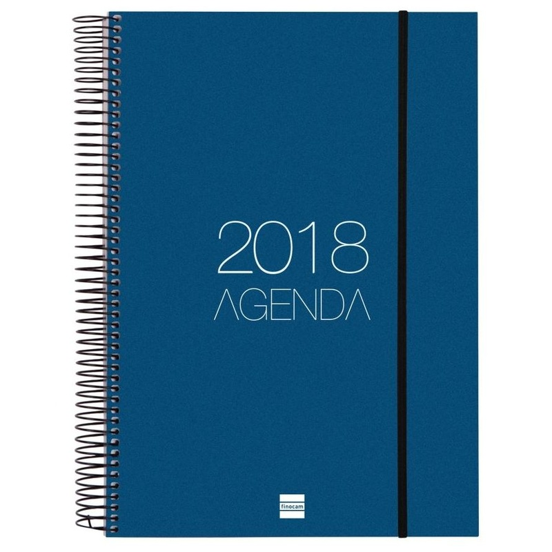 Agenda espiral opaque 2018. Finocam