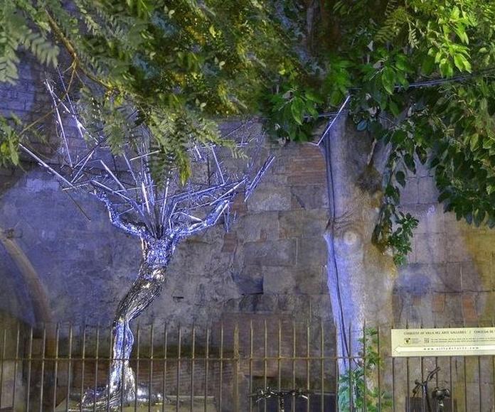 Villa del Arte en el gótico de Barcelona | Jardín de esculturas