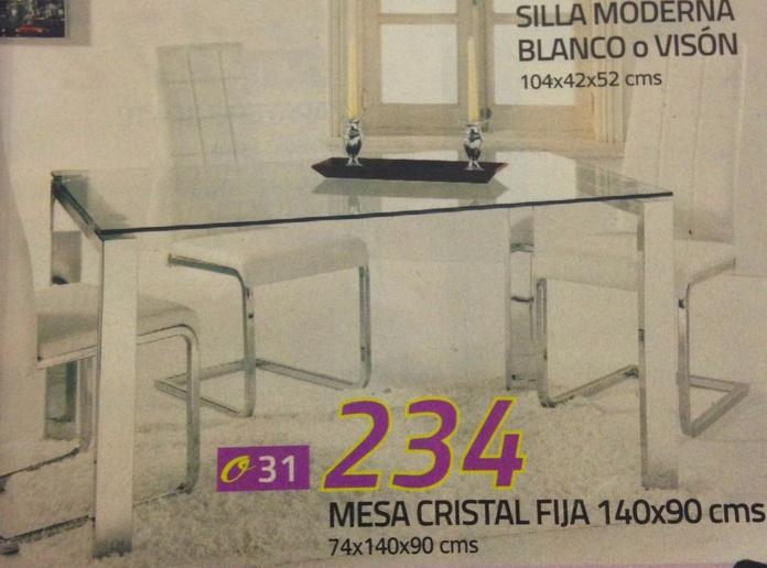 mesa cristal mod.31: Productos  de Muebles Llueca, S. L.