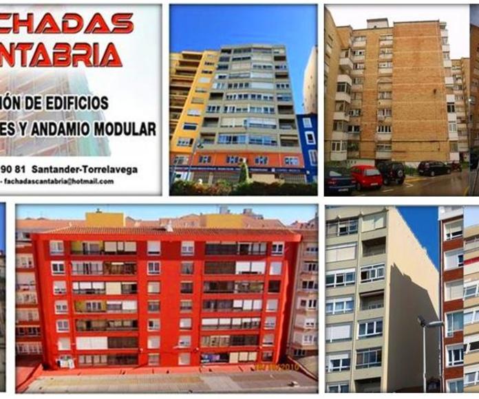 Rehabilitación de fachadas de ladrillo visto, azulejo, enfoscado trabajos verticales Santander.