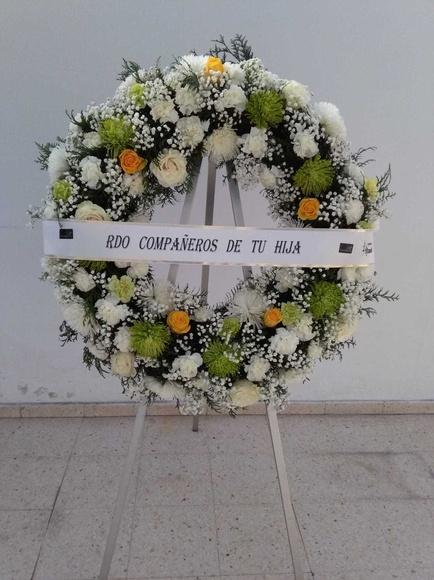 Corona de condolencias : CATALOGO de Floristería Manuela