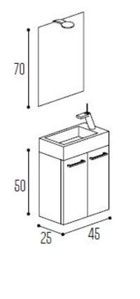 Mueble baño Kyrya Pícola C26