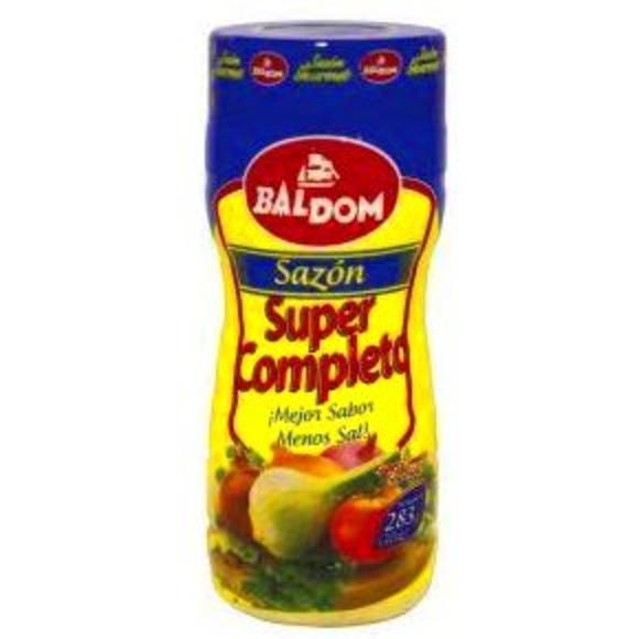 Sazón Baldom supercompleto: PRODUCTOS de La Cabaña 5 continentes