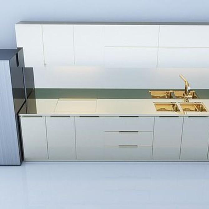 ¿Qué muebles elegir para cocinas estrechas y alargadas?