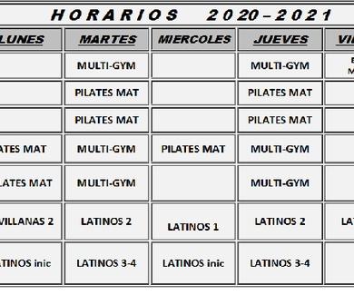 Horarios 2020/2021
