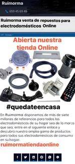 Ruimorma venta de repuestos y accesorios para electrodomésticos Online