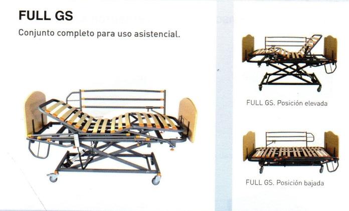 CAMA CON CARRO ELEVADOR FULLGS + COLCHÓN VISCO