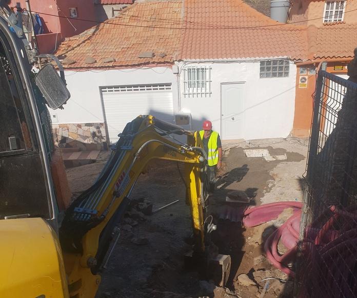 Comienzo de Obra Pública en Tunte, Las Palmas