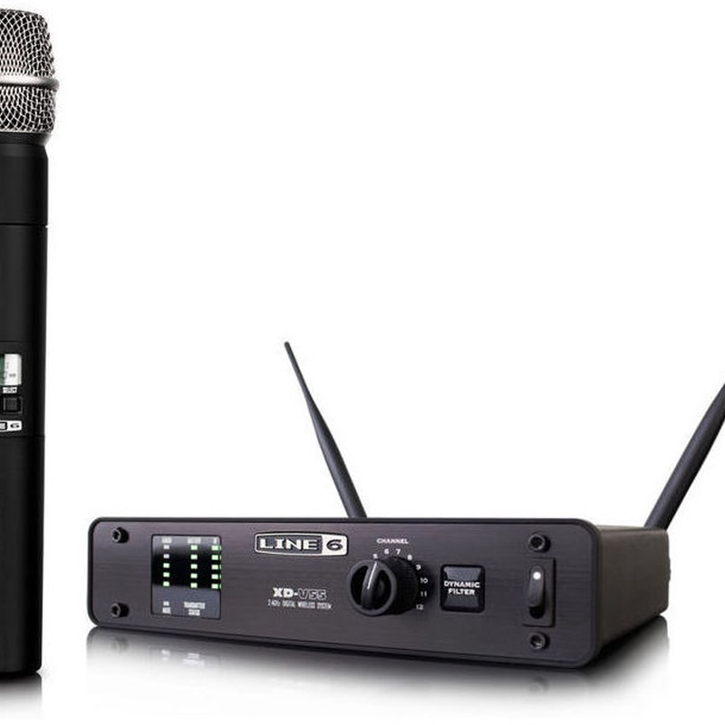 Microfono inhalambrico Line6 XD-V55 simulacion Shure sm58 Sennheiser E835