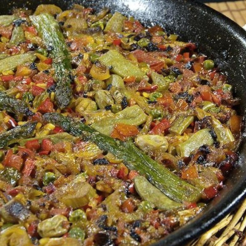 Paella vegetal: Carta y Menús de Cantarradas