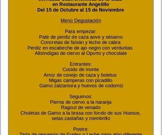 Entrantes: Carta de Restaurante Angelillo