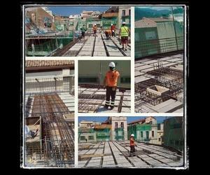 Primer forjado en viviendas en la Garriga