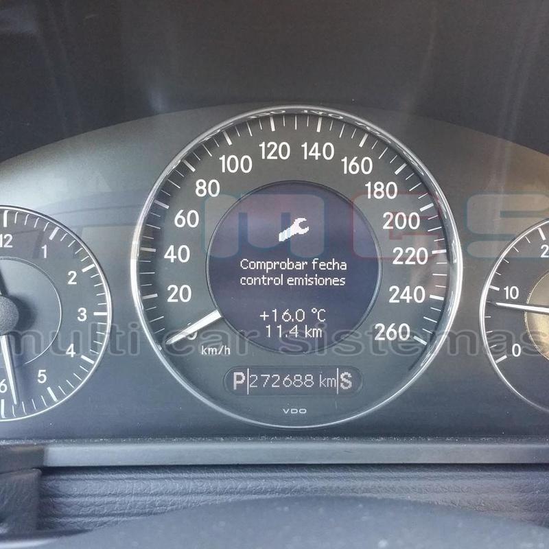 Comprobar fecha de control de emisiones Mercedes Benz