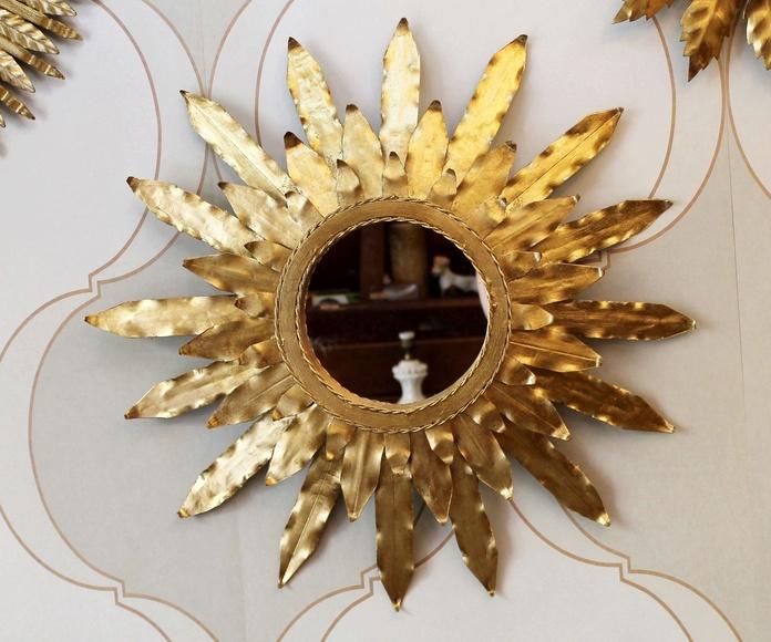 Precioso espejo de sol vintage: Artículos  de Ruzafa Vintage