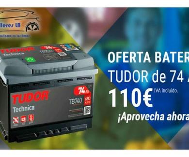 Oferta Bateria Tudor por  solo 110 € (IVA incluido)