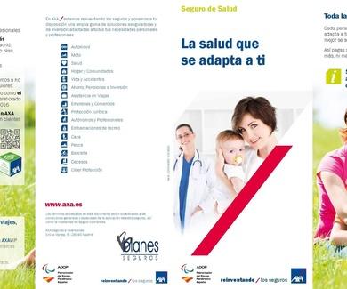 Seguro de salud Axa 10% de descuento directo y regalo póliza dental