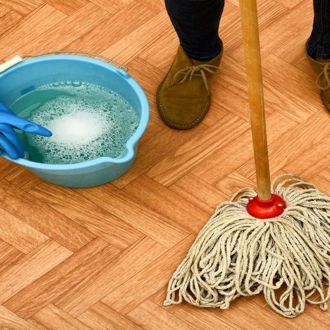 Productos especiales para la limpieza de los suelos de madera