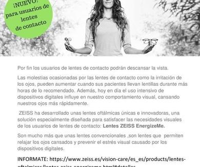 **NUEVO:CRISTALES ESPECIALES PARA USUARIOS DE LENTILLAS