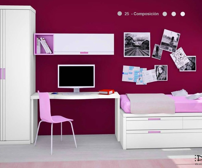 Dormitorio juvenil composición 25