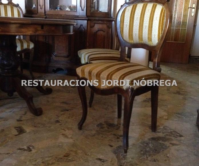 Restauración comedor vintage. Restauracións Jordi Nóbrega: Nuestros trabajos de Jordi Nóbrega Restauracions
