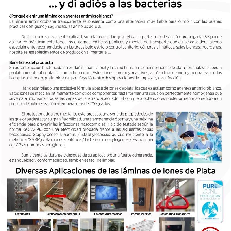 Lámina protección antimicrobiana: Catálogo de Jesús Carrasco e Hijo