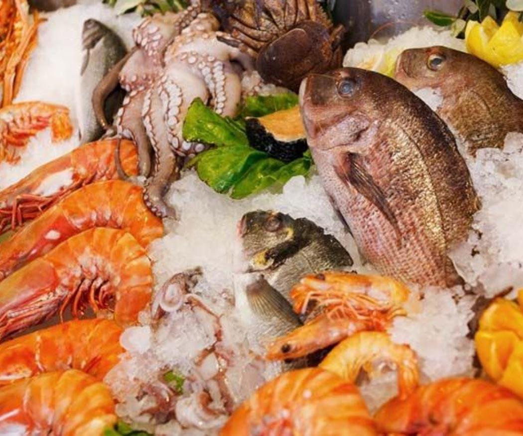 El marisco, rico en aminoácidos y proteínas