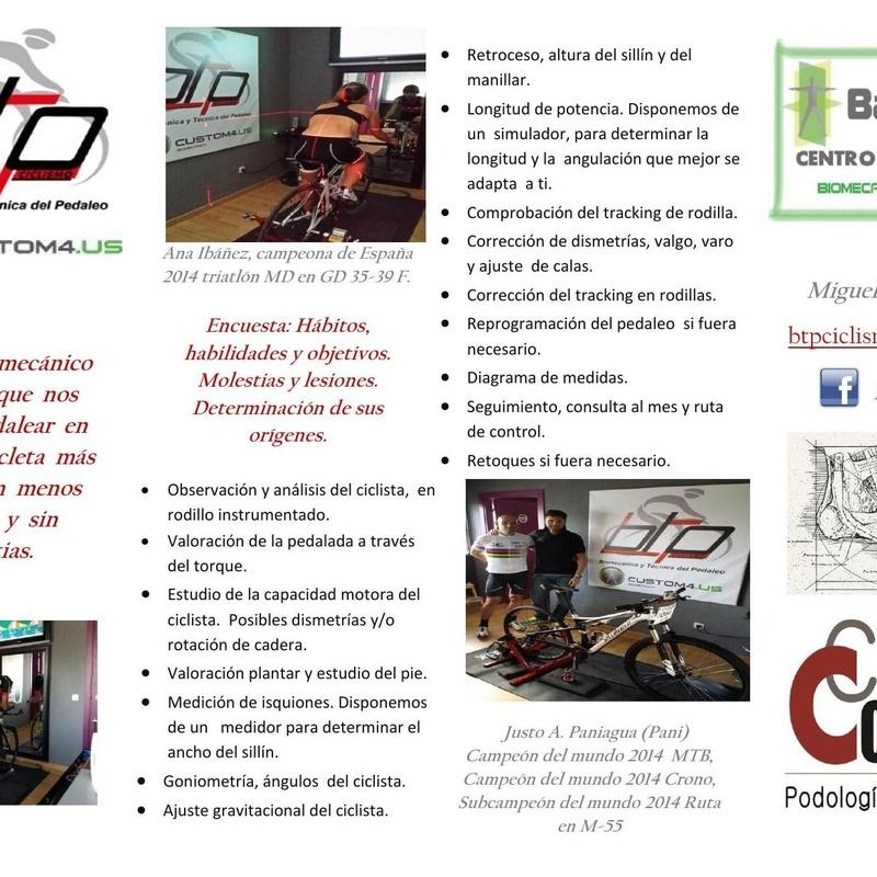 ESTUDIO BIOMECÁNICO PARA CICLISTAS: Catálogo de Clínica Conecta Madrid