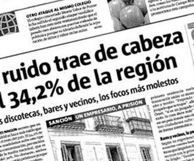 El ruido trae de cabeza al 34% de la región