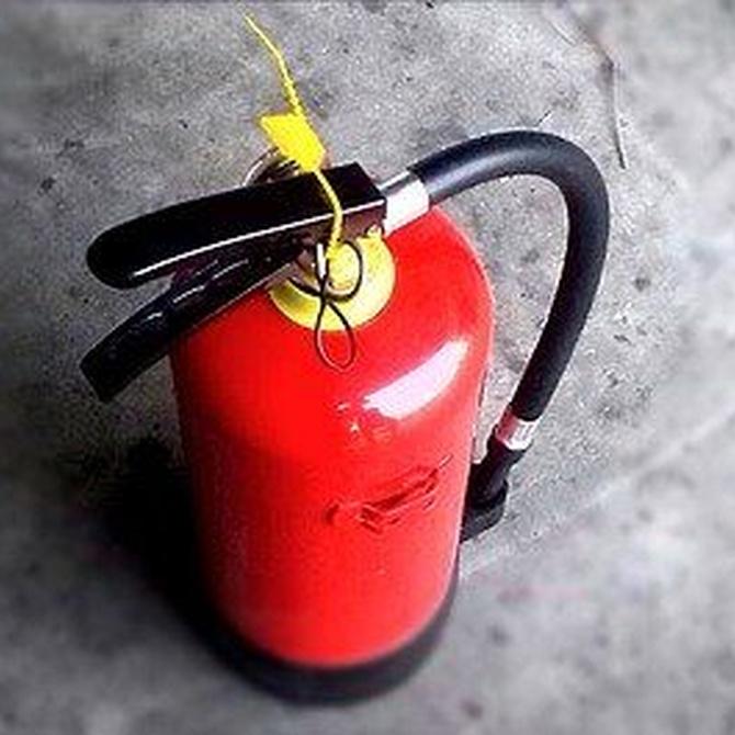 Instalación contra incendios: extintores