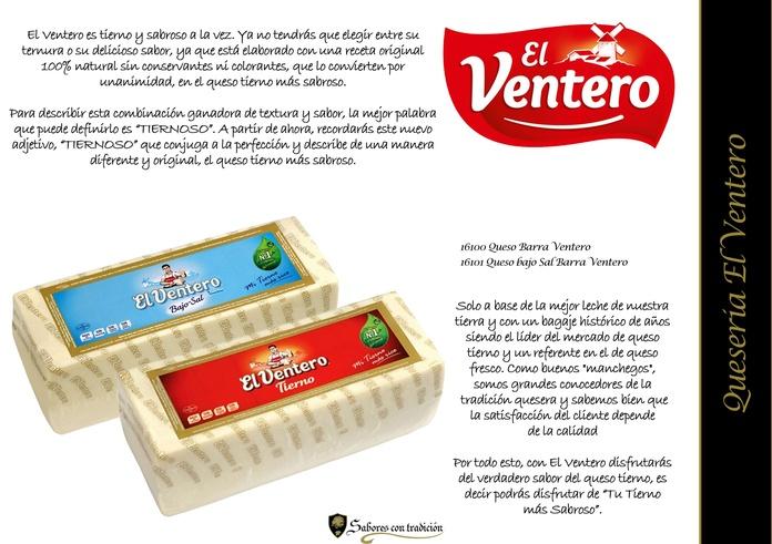 """Quesos """" Queseria El Ventero """": Productos de Sabores con tradición"""