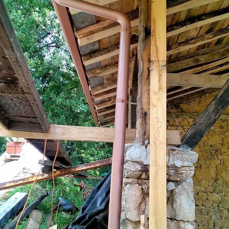 bajante de aluminio lacado en Asturias