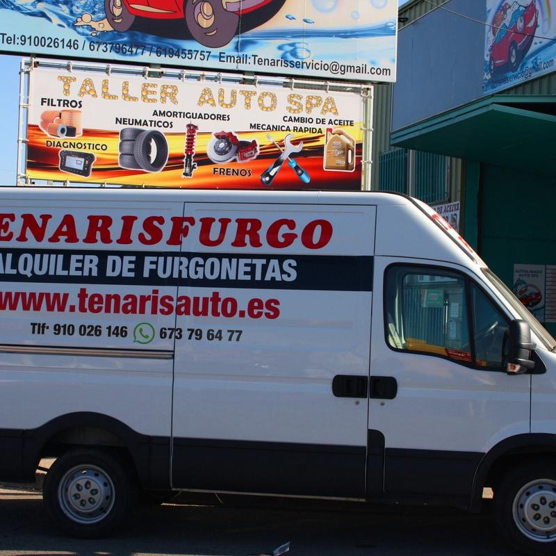 ALQUILER DE FURGONETAS SIN CONDUCTOR (49 € dia): LAVADO-MECANICA-ALQUILER FURGO de Tenaris Servicios Automoción