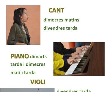 clases de canto y instrumentos