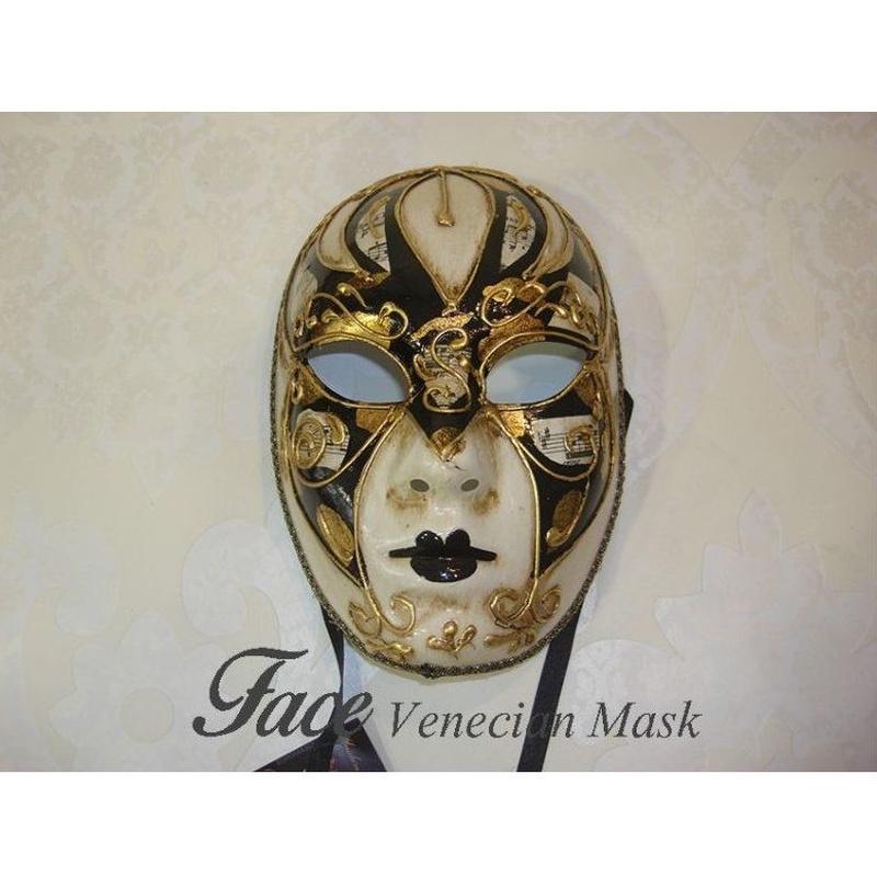 Máscaras pintadas a mano Volto: Máscaras y antifaces de Face Venecian Mask