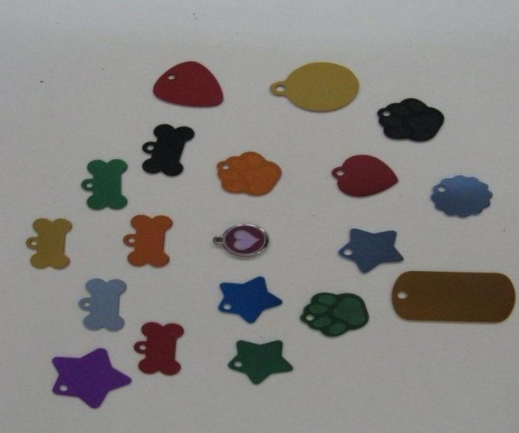 Chapas para identificación de mascotas