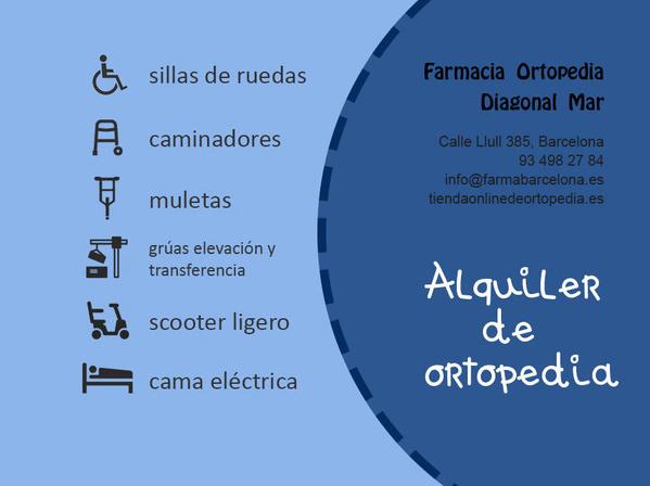 Alquiler ortopedia Barcelona