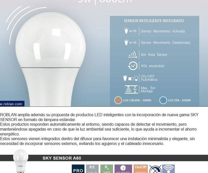 Bombilla radar: Productos de Centro Led Almería