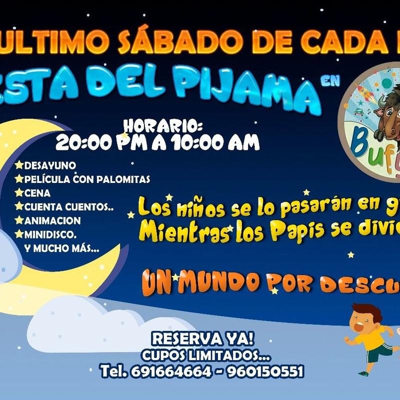 Fiestas del Pijama: Servicios y Actividades de Bufytos