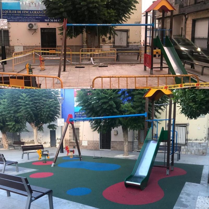 Parque Infantil renovación, Cox, Alicante, Flama Levante.
