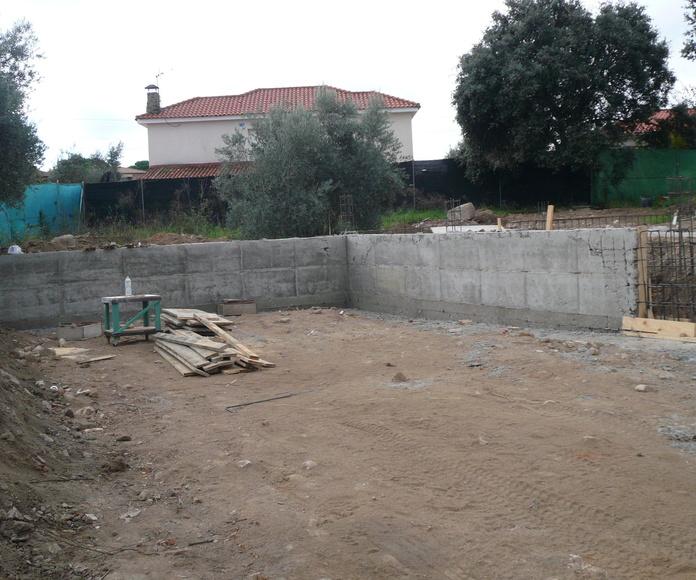 Parte del muro del garaje