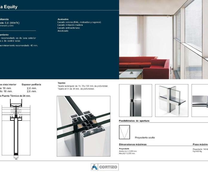 Fachada Equity: Catálogo de Jgmaluminio