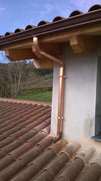 bajantes de cobre  en Asturias