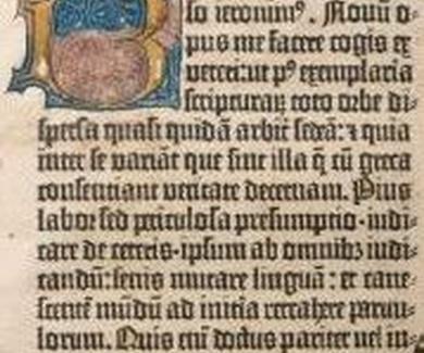 La Biblia de Gutenberg de la Biblioteca de la Universidad de Sevilla será restaurada en el IAPH