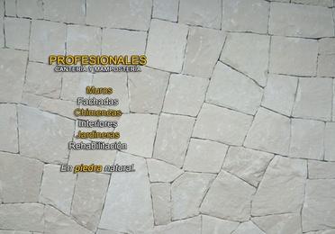 Mampostería concertada en seco (hueso) en piedra blanca de Almorqui