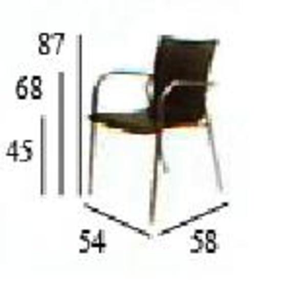 Sillon giratorio Omega-05 (Dimensiones)