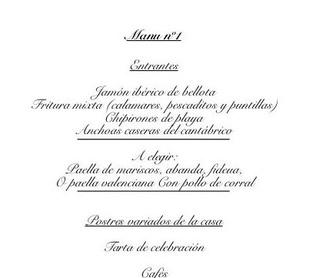 Menús para Grupos: Carta de Casa Navarro